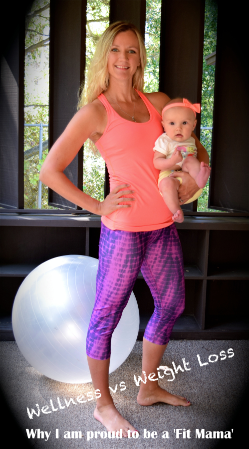 fit mom with baby